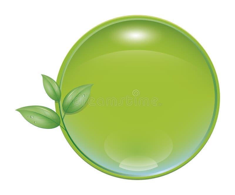 Icona verde della natura illustrazione di stock