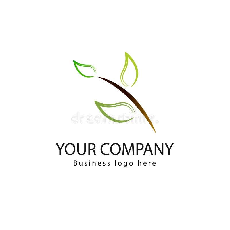 Icona verde di vettore dell'elemento della natura di ecologia della foglia Biologico, logo del prodotto illustrazione vettoriale