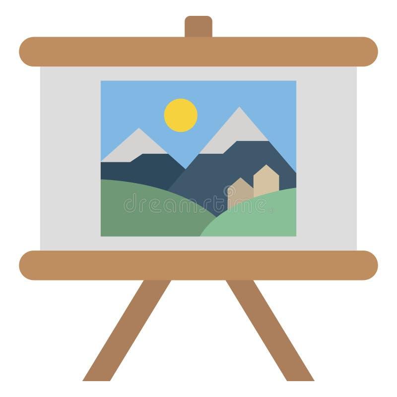Icona Vettore di colore dello stand di Canvas Isolato e completamente modificabile illustrazione di stock