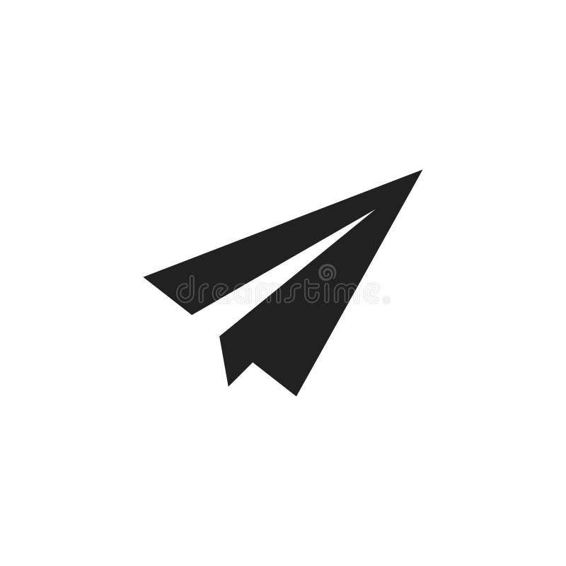 Icona vettore isolato del velivolo carta Fotografia piatta isolata Concetto di freelance Simbolo del trasporto di volo Carta vett illustrazione vettoriale