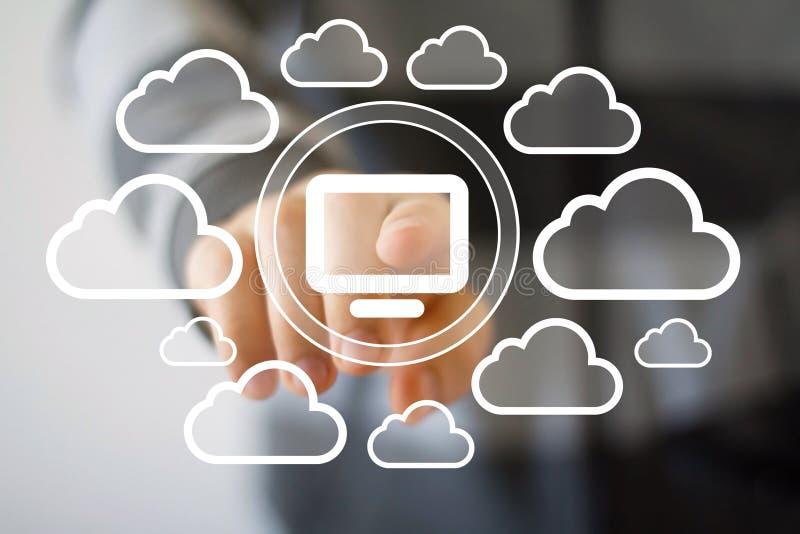 Download Icona Virtuale Della Nuvola Del Computer Del Collegamento Di Media Del Bottone Di Affari Illustrazione di Stock - Illustrazione di people, notizie: 56890590