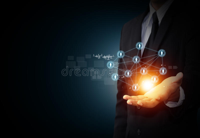 Icona virtuale della rete sociale