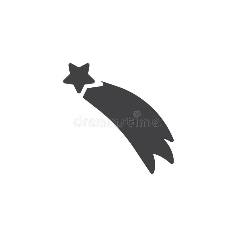 Icona volante di vettore della stella illustrazione di stock