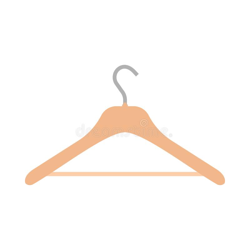 Icona vuota di vettore dell'attrezzatura dell'oggetto di simbolo casuale di usura del gancio Scaffale accessorio del guardaroba d illustrazione di stock