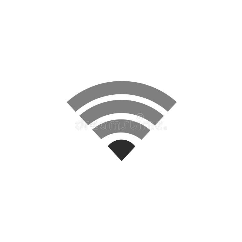 Icona Wi-Fi su sfondo bianco fotografia stock libera da diritti