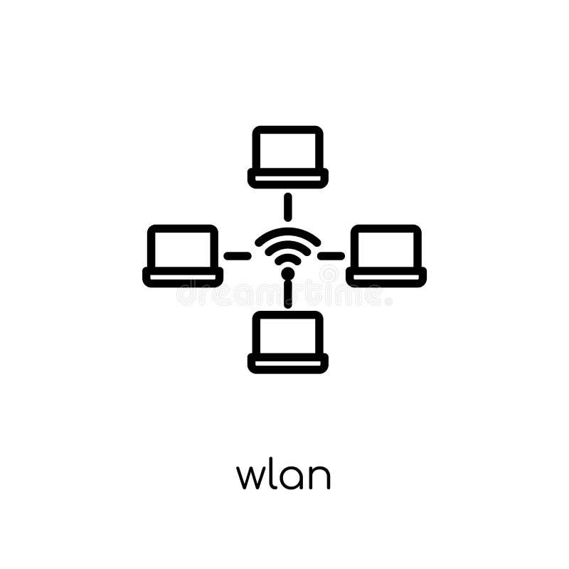 icona wlan Icona wlan di vettore lineare piano moderno d'avanguardia sulla b bianca royalty illustrazione gratis