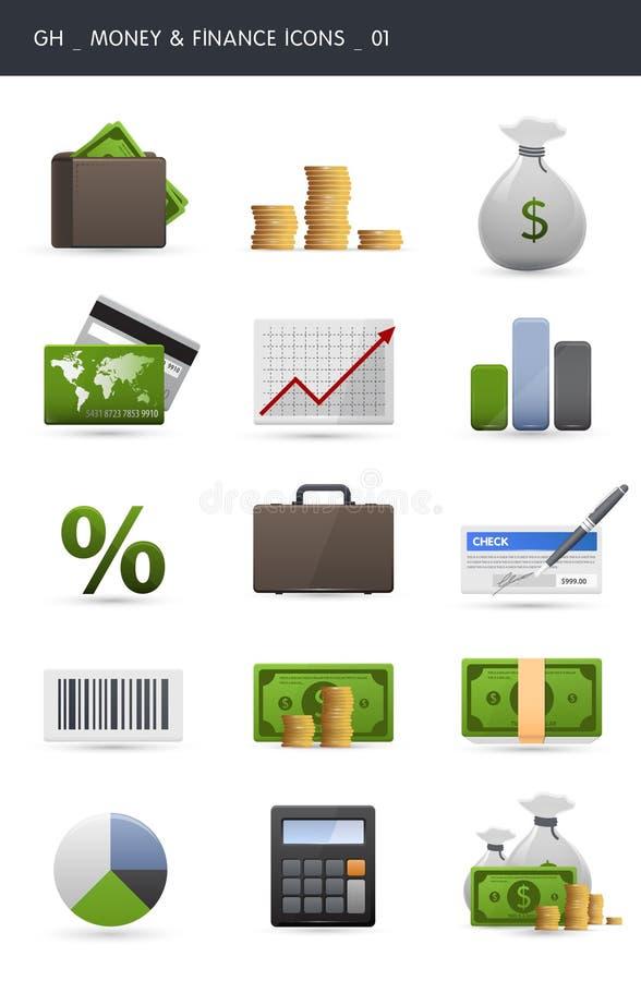 Icone _01 di finanze e dei soldi royalty illustrazione gratis