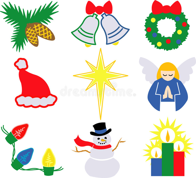Icone 2/eps di natale royalty illustrazione gratis