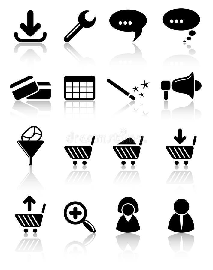 Icone illustrazione vettoriale