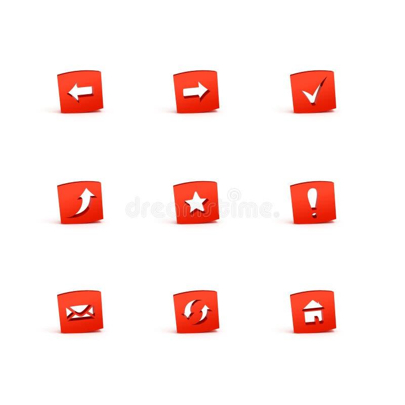 icone 3d immagini stock