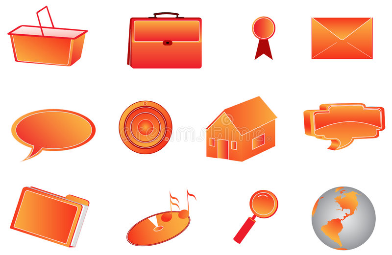 icone 3d illustrazione vettoriale