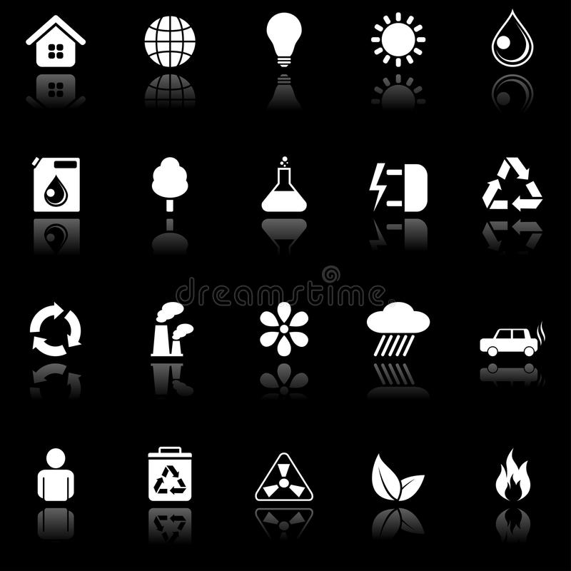 Icone ambientali. royalty illustrazione gratis