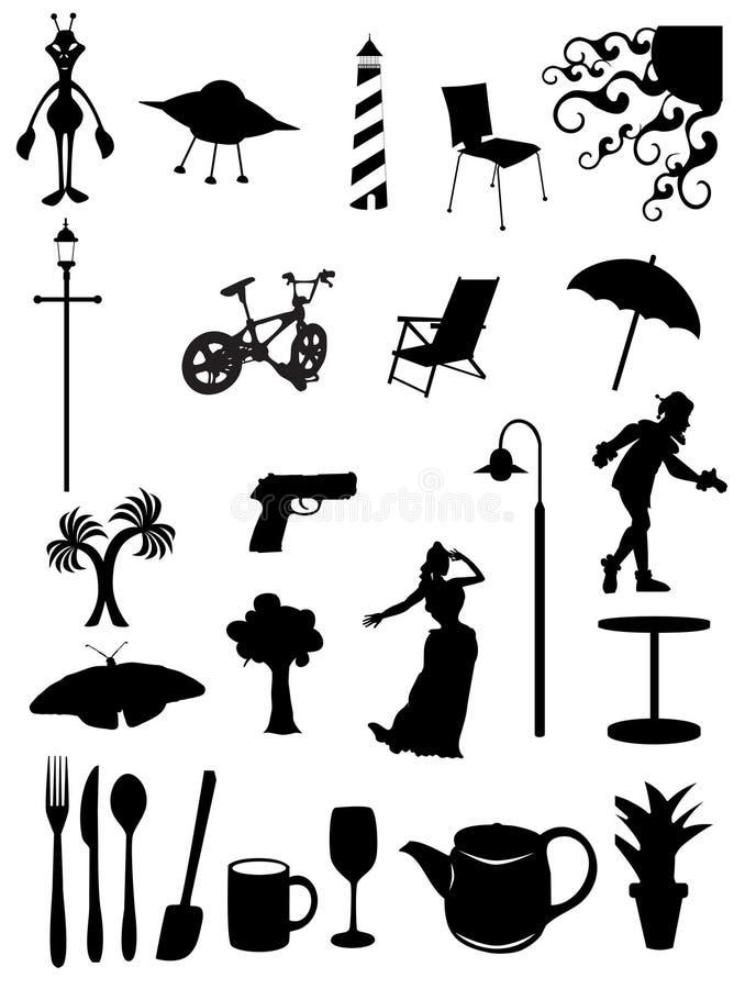Icone & simboli giornalieri degli elementi illustrazione di stock