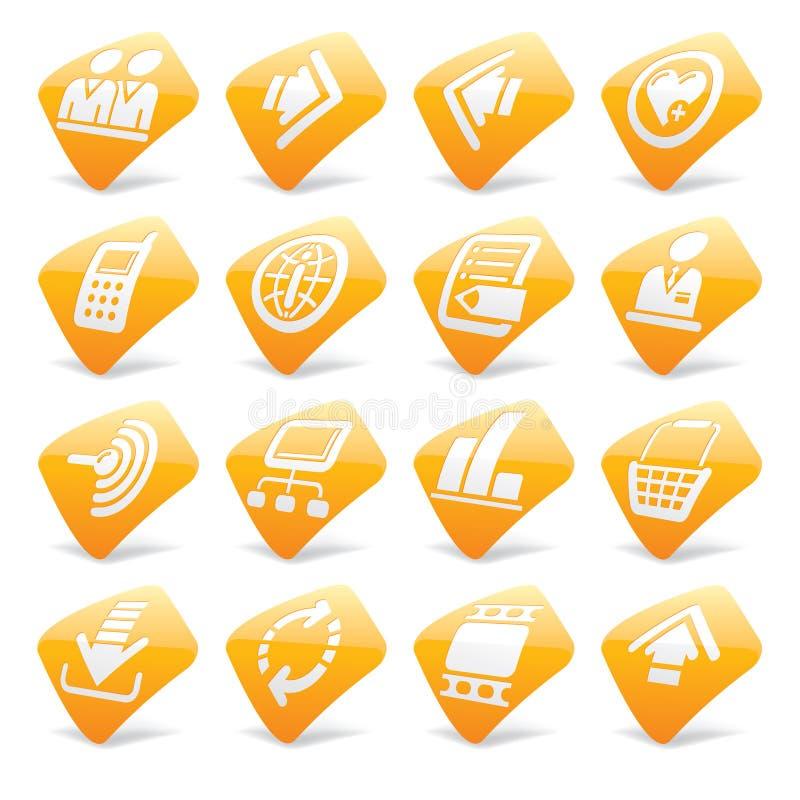 Icone arancioni 2 del Internet e di Web site illustrazione vettoriale