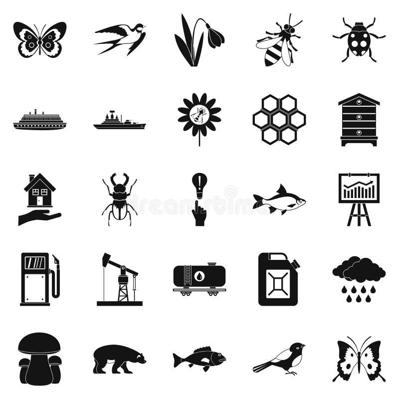 Icone ardenti messe, stile semplice royalty illustrazione gratis