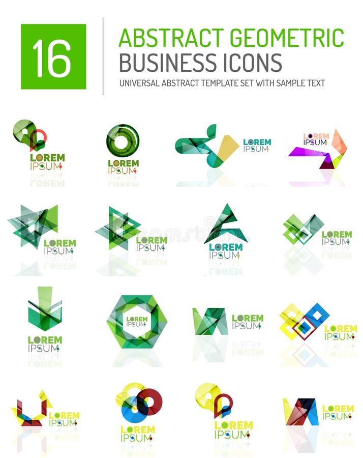 Icone astratte di affari illustrazione vettoriale