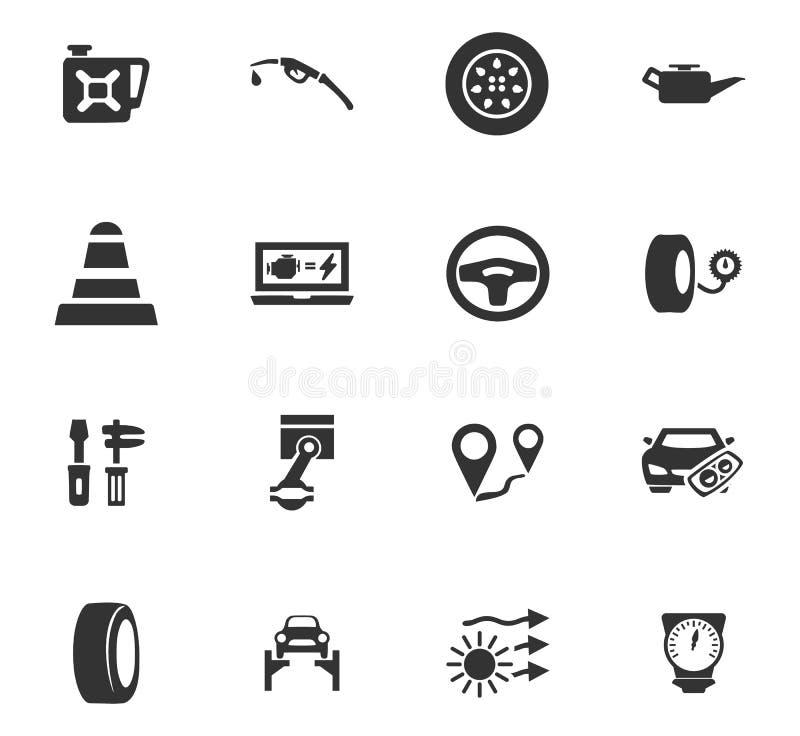 Icone automatiche messe illustrazione vettoriale