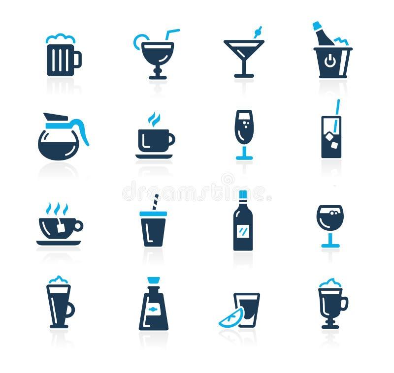 Icone //Azure Series delle bevande illustrazione di stock