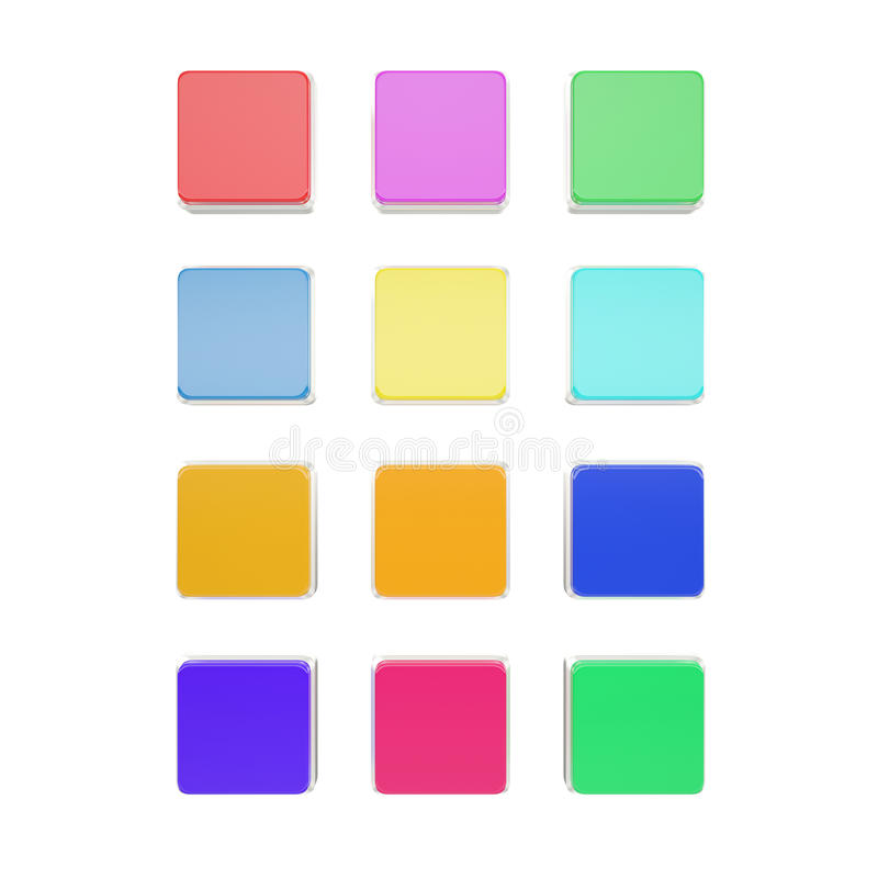 Icone in bianco stabilite per la vostra progettazione isolate su bianco illustrazione di stock