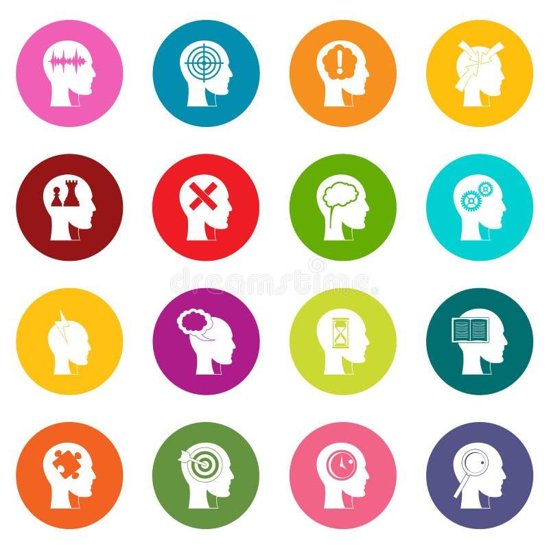 Icone cape del logos insieme di molti colori illustrazione di stock