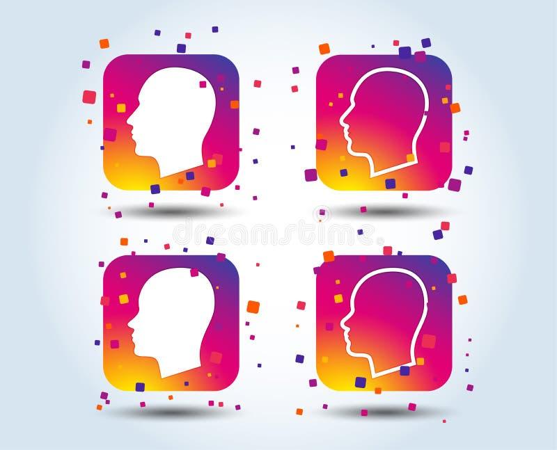 Icone cape Maschio e simboli umani femminili royalty illustrazione gratis