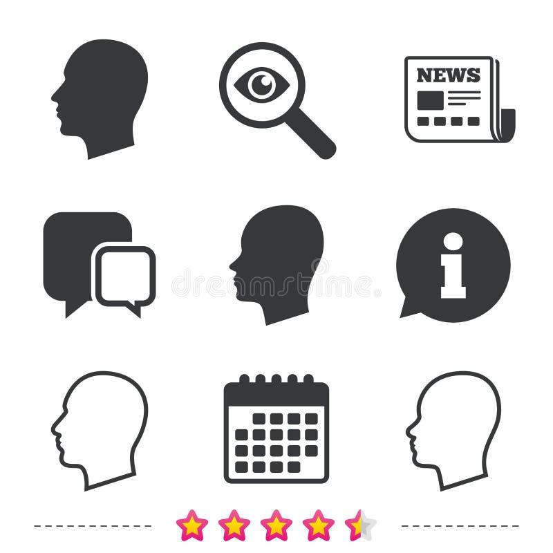 Icone cape Maschio e simboli umani femminili illustrazione vettoriale