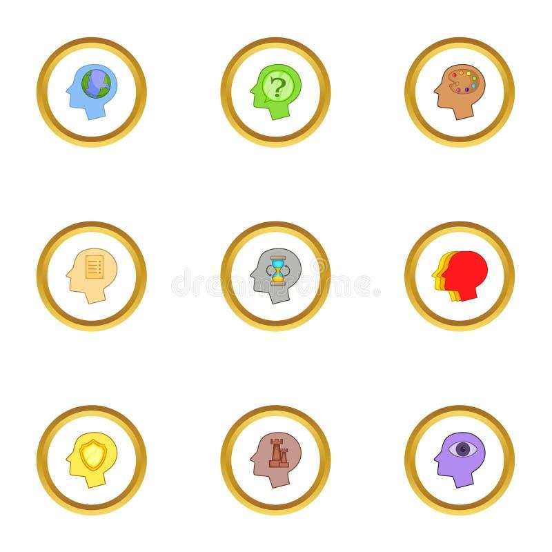 Icone cape messe, stile di logo del fumetto illustrazione di stock