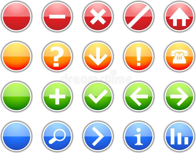 Icone colorate del segno royalty illustrazione gratis