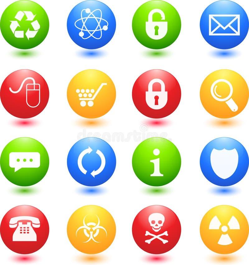 Icone colorate di Web illustrazione di stock