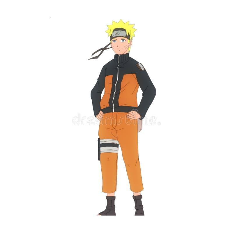 Icone con il tema dei caratteri di Naruto royalty illustrazione gratis
