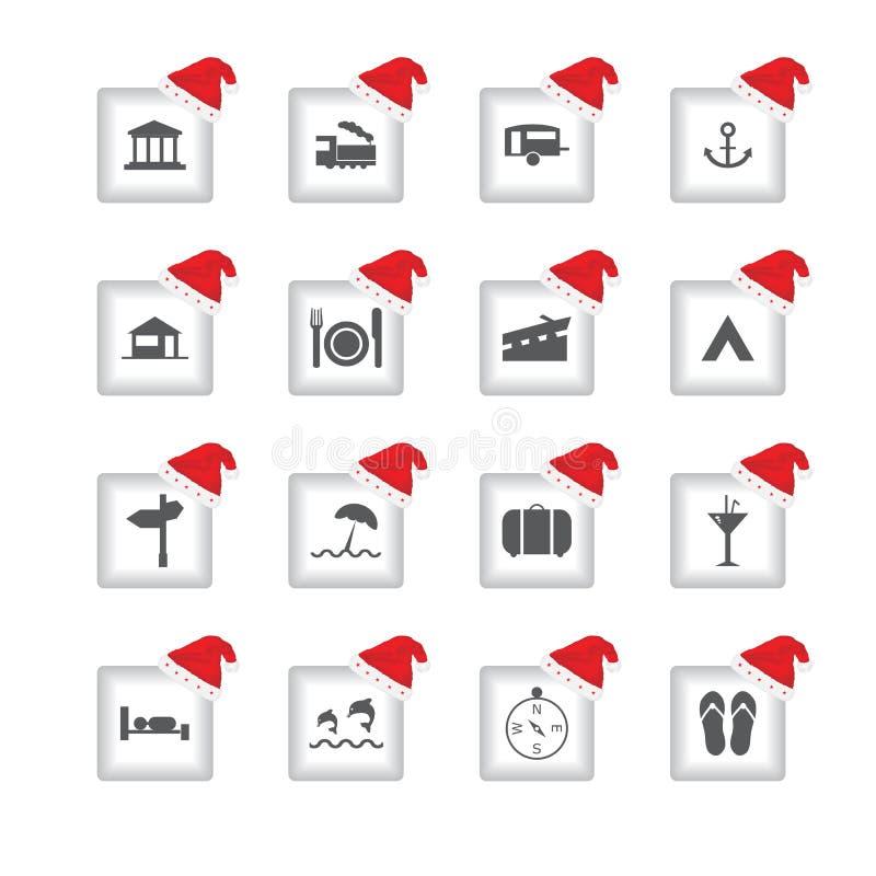 icone con progettazione di Natale illustrazione vettoriale