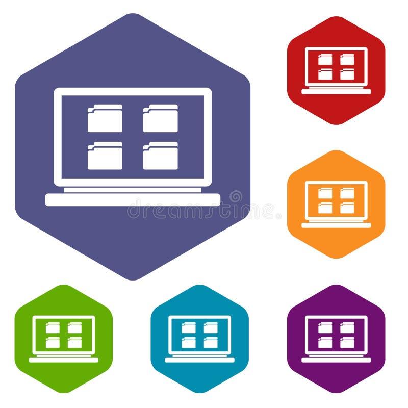 Download Icone da tavolino messe illustrazione vettoriale. Illustrazione di dispositivo - 117979005