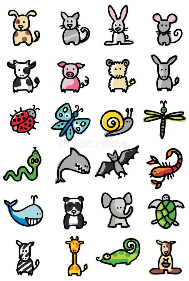 Icone degli animali fotografia stock libera da diritti