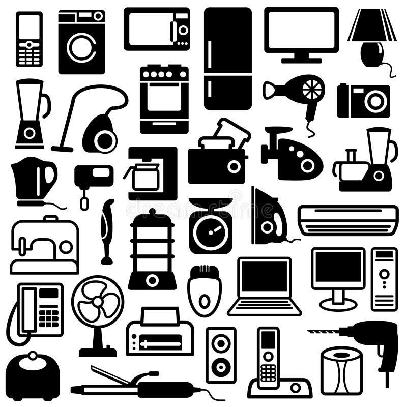 Icone degli elettrodomestici royalty illustrazione gratis