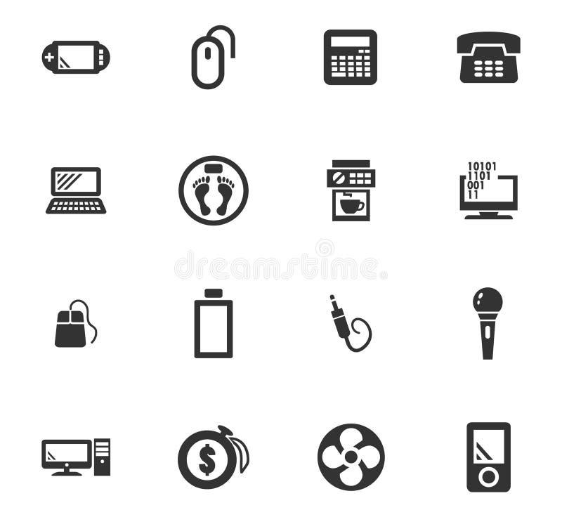 Icone degli elettrodomestici messe royalty illustrazione gratis