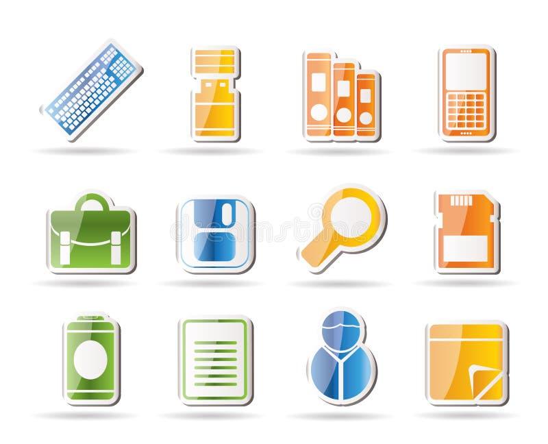Icone degli strumenti dell'ufficio e di affari royalty illustrazione gratis