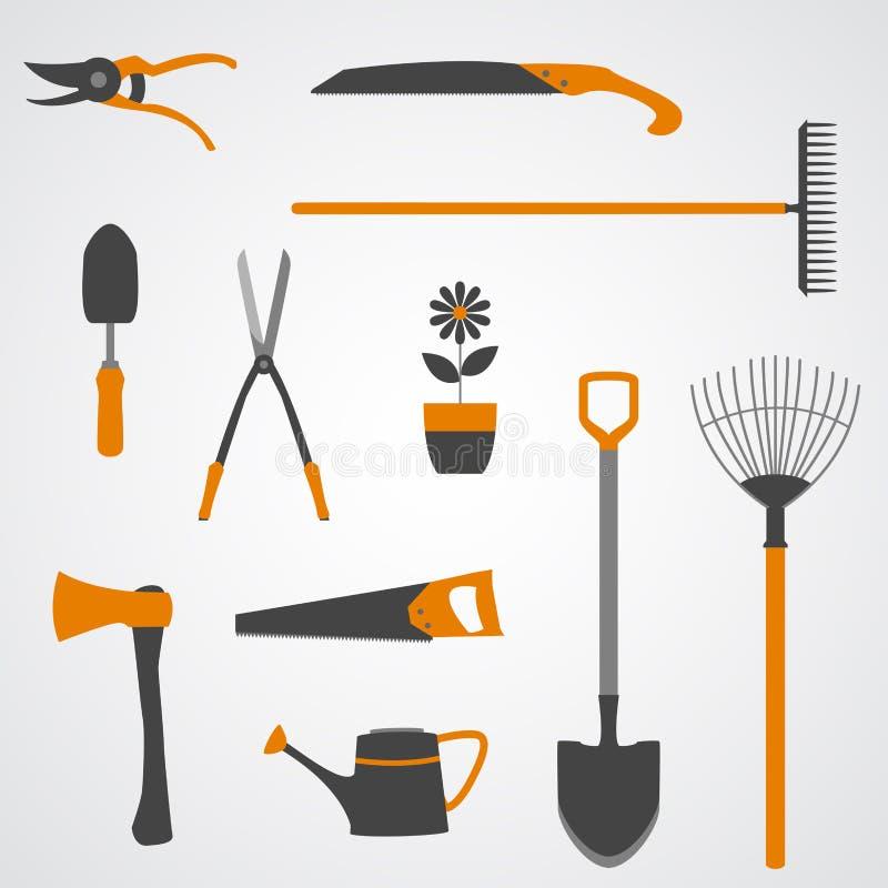 Icone degli strumenti di giardino royalty illustrazione gratis