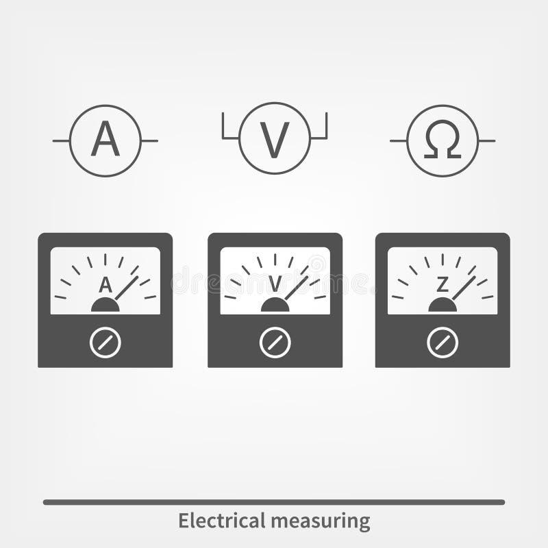 Icone degli strumenti di misura fisici immagine stock libera da diritti