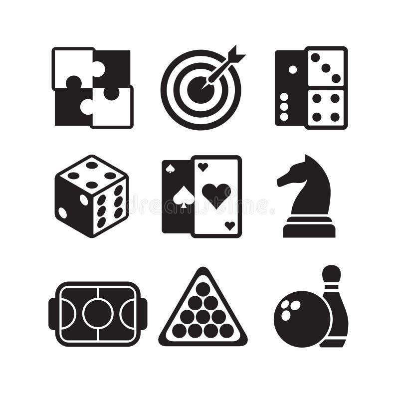 Icone dei giochi messe illustrazione vettoriale