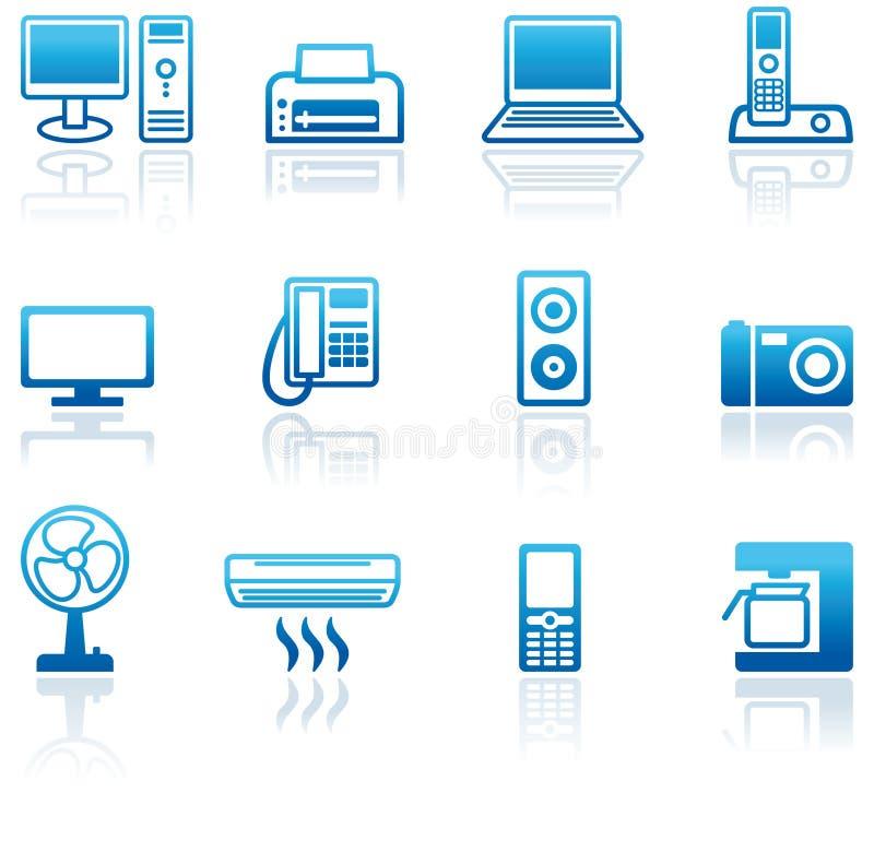 Icone dei mobili d'ufficio illustrazione vettoriale