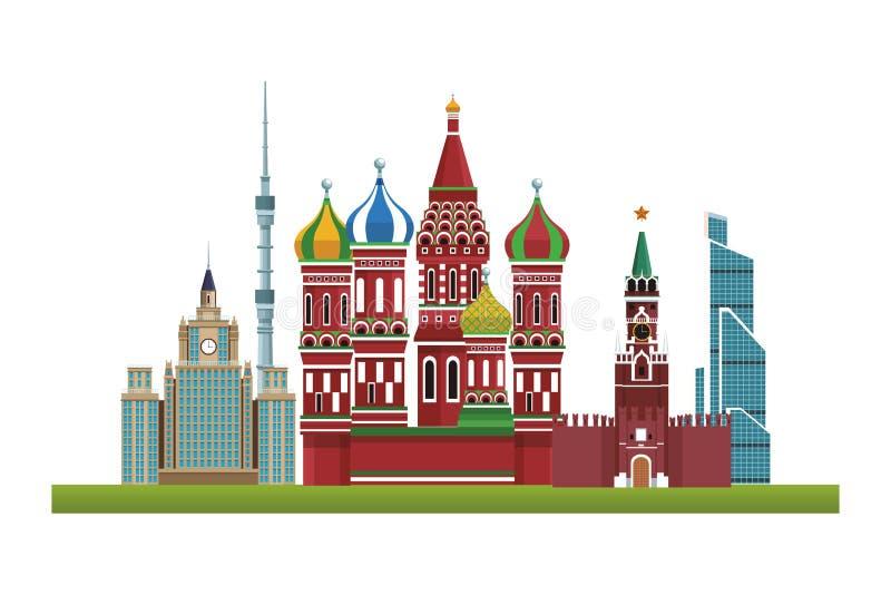Icone dei monumenti del mondo royalty illustrazione gratis