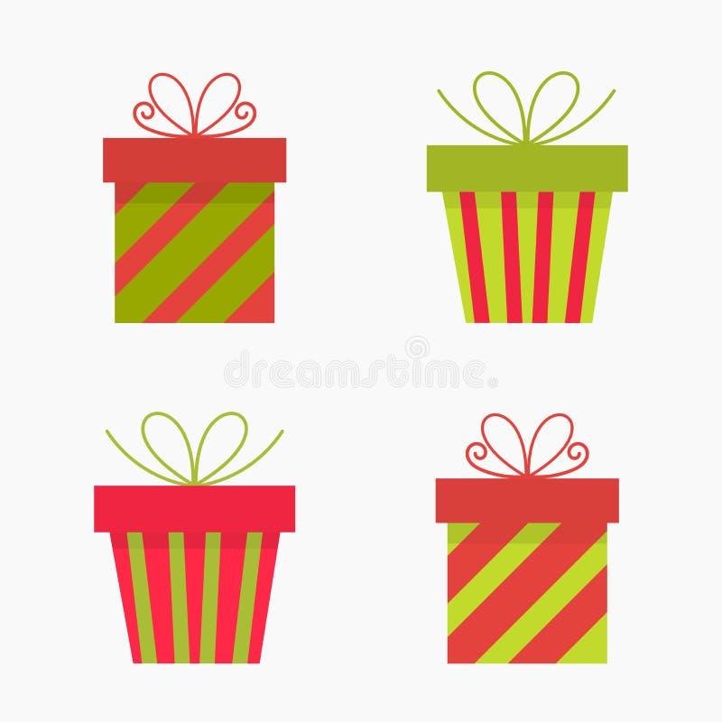 Icone dei regali di Natale royalty illustrazione gratis