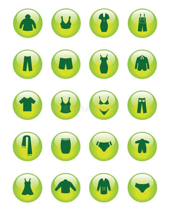 Icone dei vestiti (vettore) fotografia stock libera da diritti