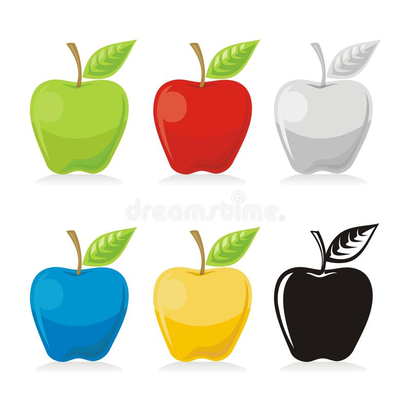 Icone del Apple illustrazione di stock
