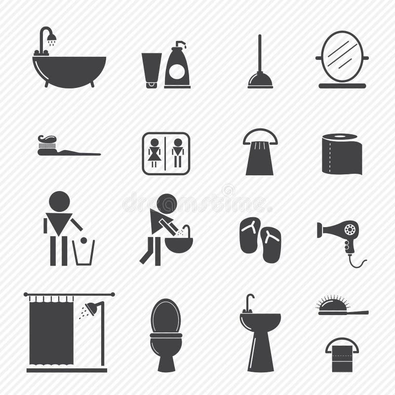 Icone del bagno illustrazione di stock