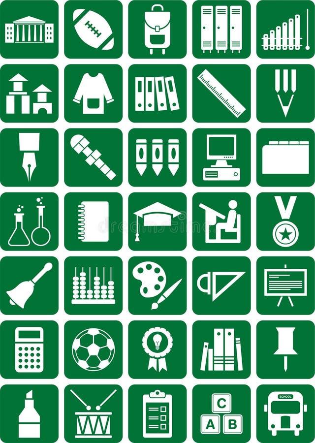 Icone del banco illustrazione di stock