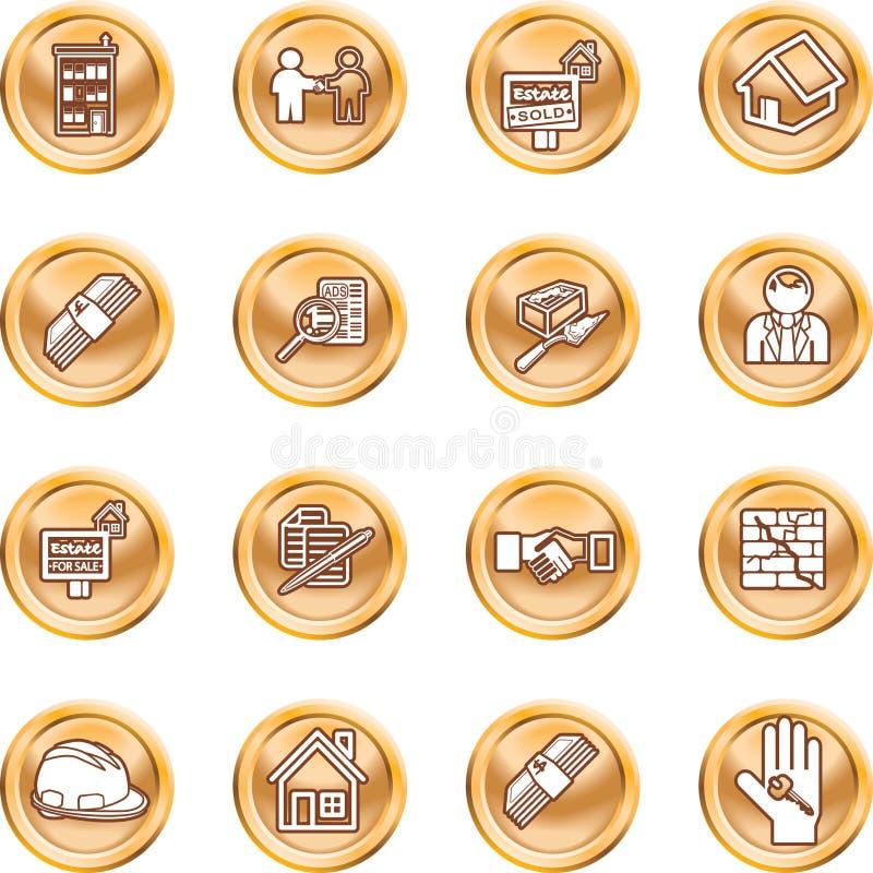 Icone del bene immobile royalty illustrazione gratis