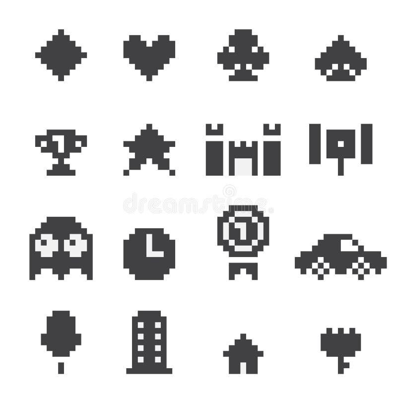 8 icone del bit messe royalty illustrazione gratis