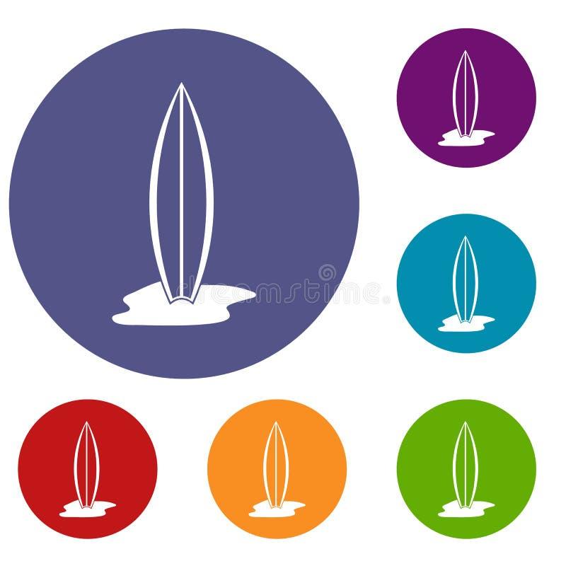 Icone del bordo di spuma messe illustrazione di stock