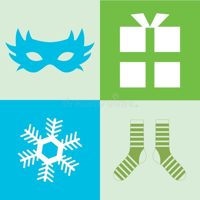 icone del buon anno, icona di colore royalty illustrazione gratis